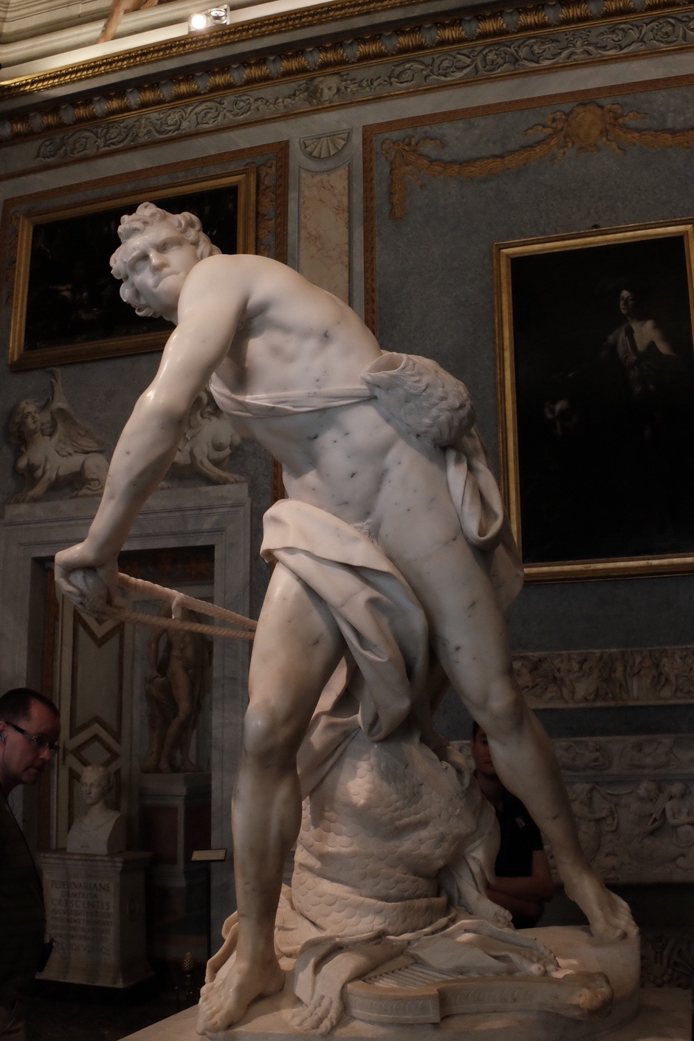 Bernini's David at the Borghese Gallery