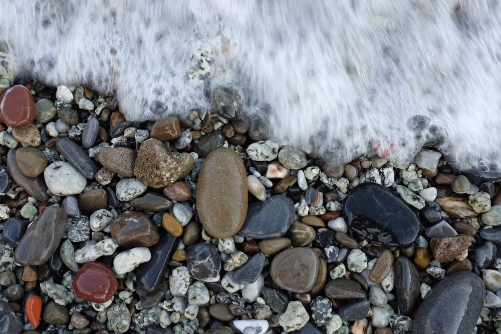 Beach pebbles of Monterosso