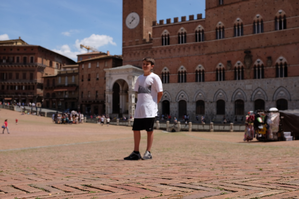 Sam on campo in Siena