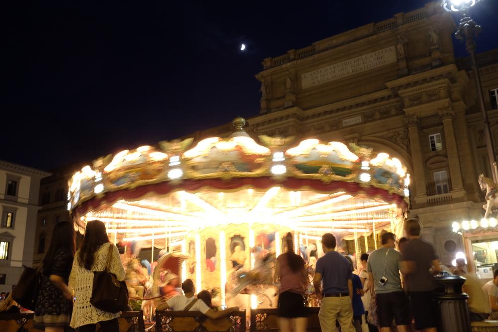 Merry-go-round at Piazza Repubblica
