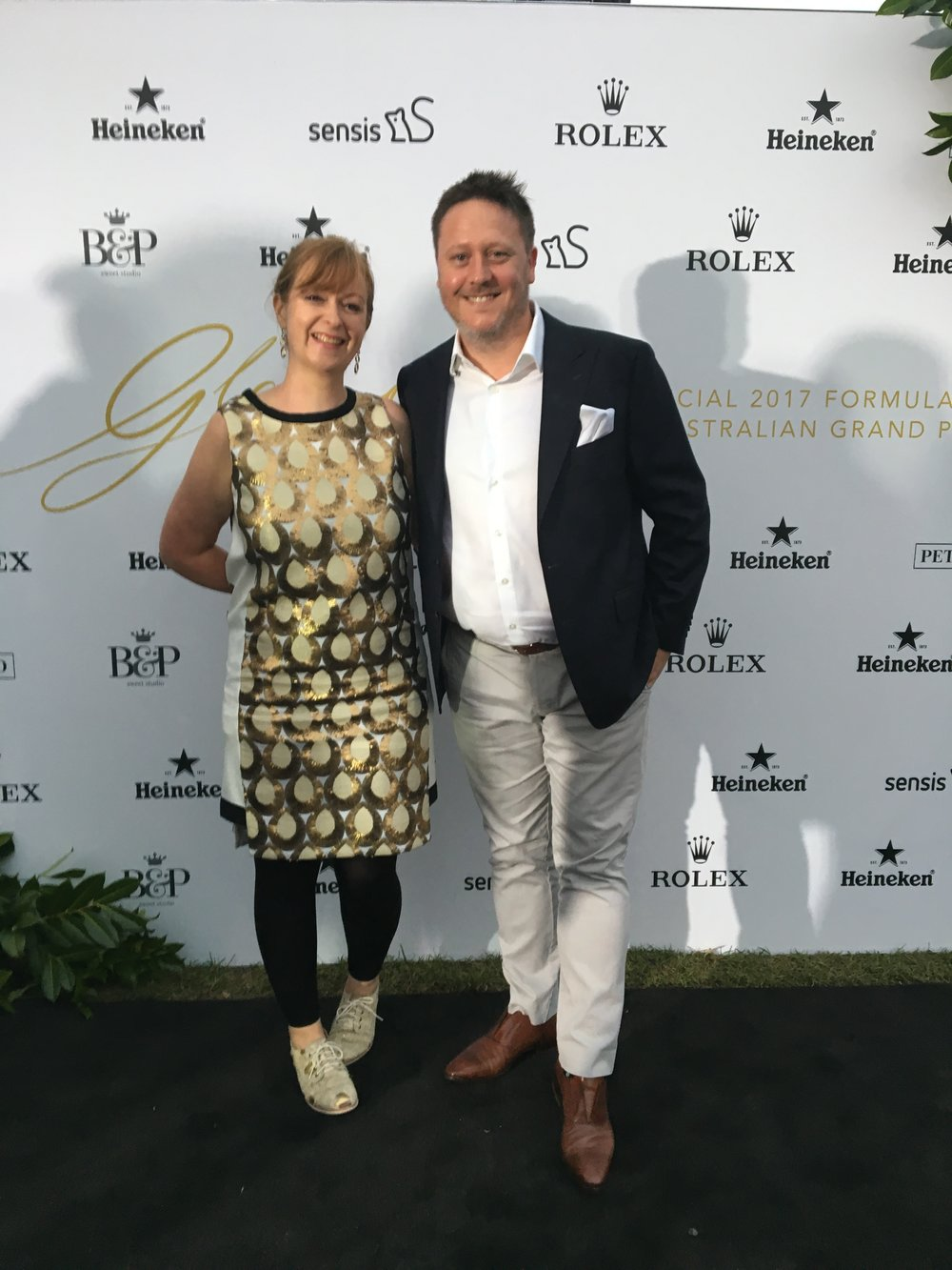 Out with Burch & Purchese driving force (and my wife) Cath for rare night out on the red carpet. Great to stand in front of the B&P media wall.