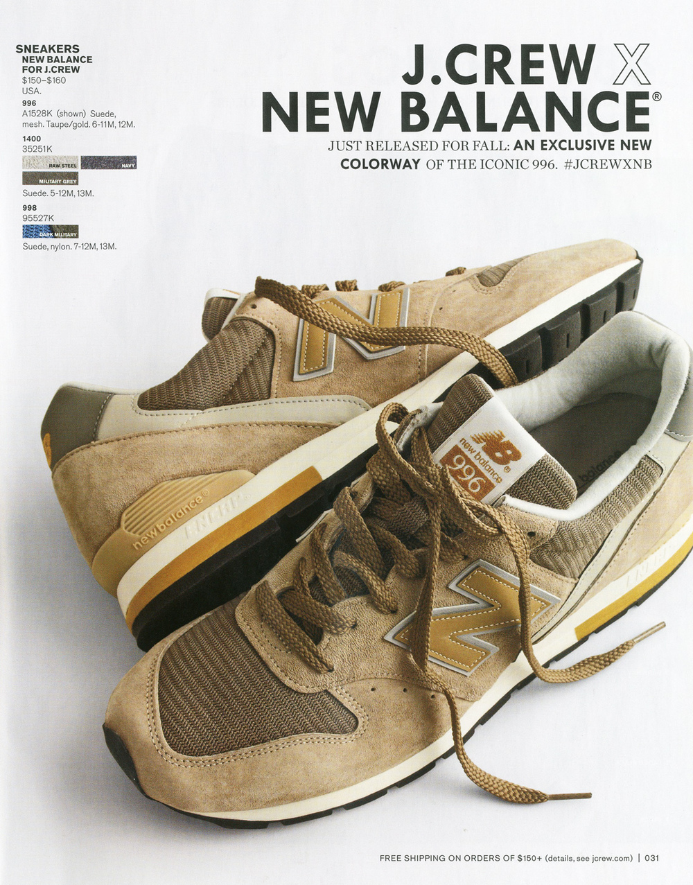 New Balance 996 - 'Taupe Gold'