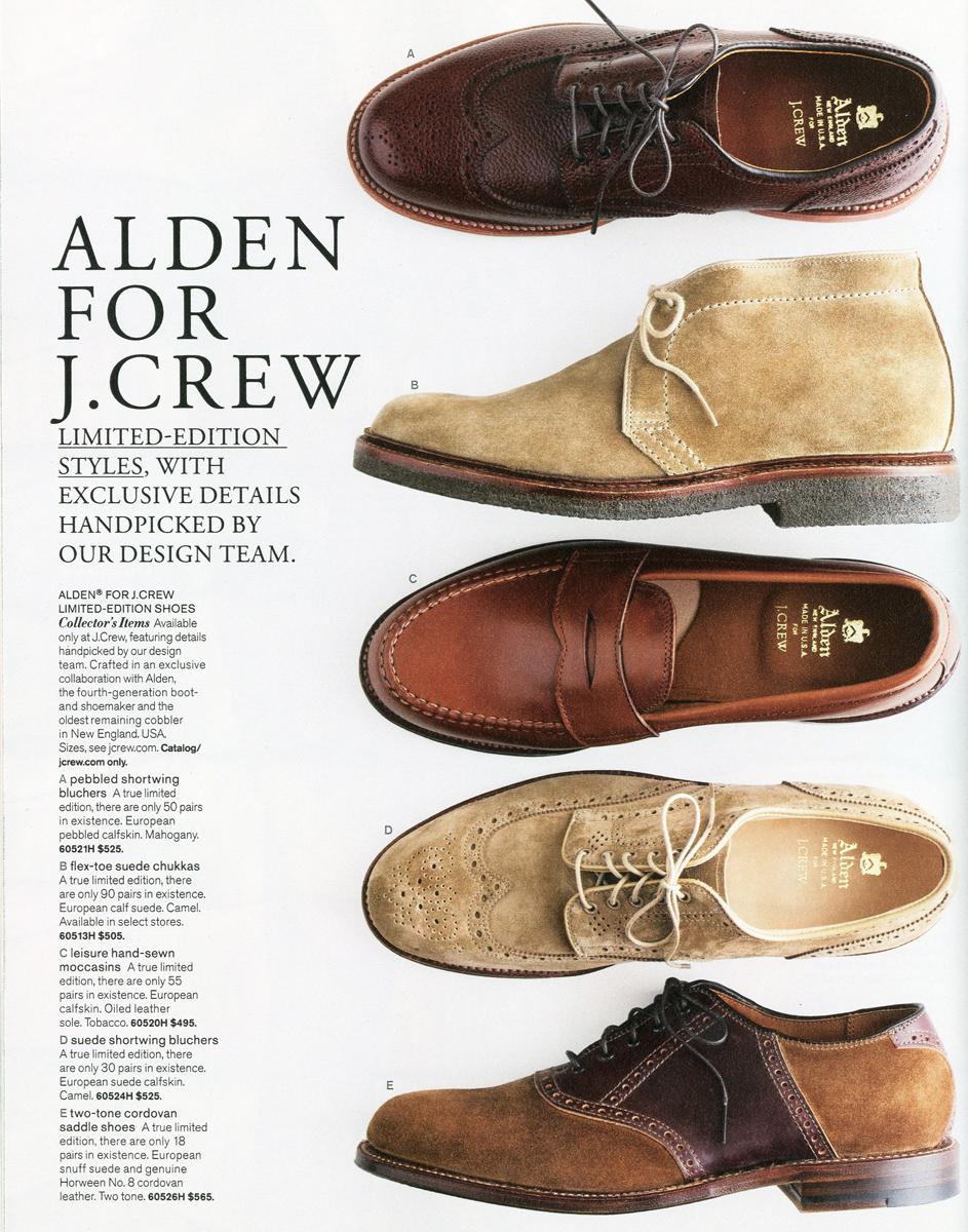 Alden X J Crew