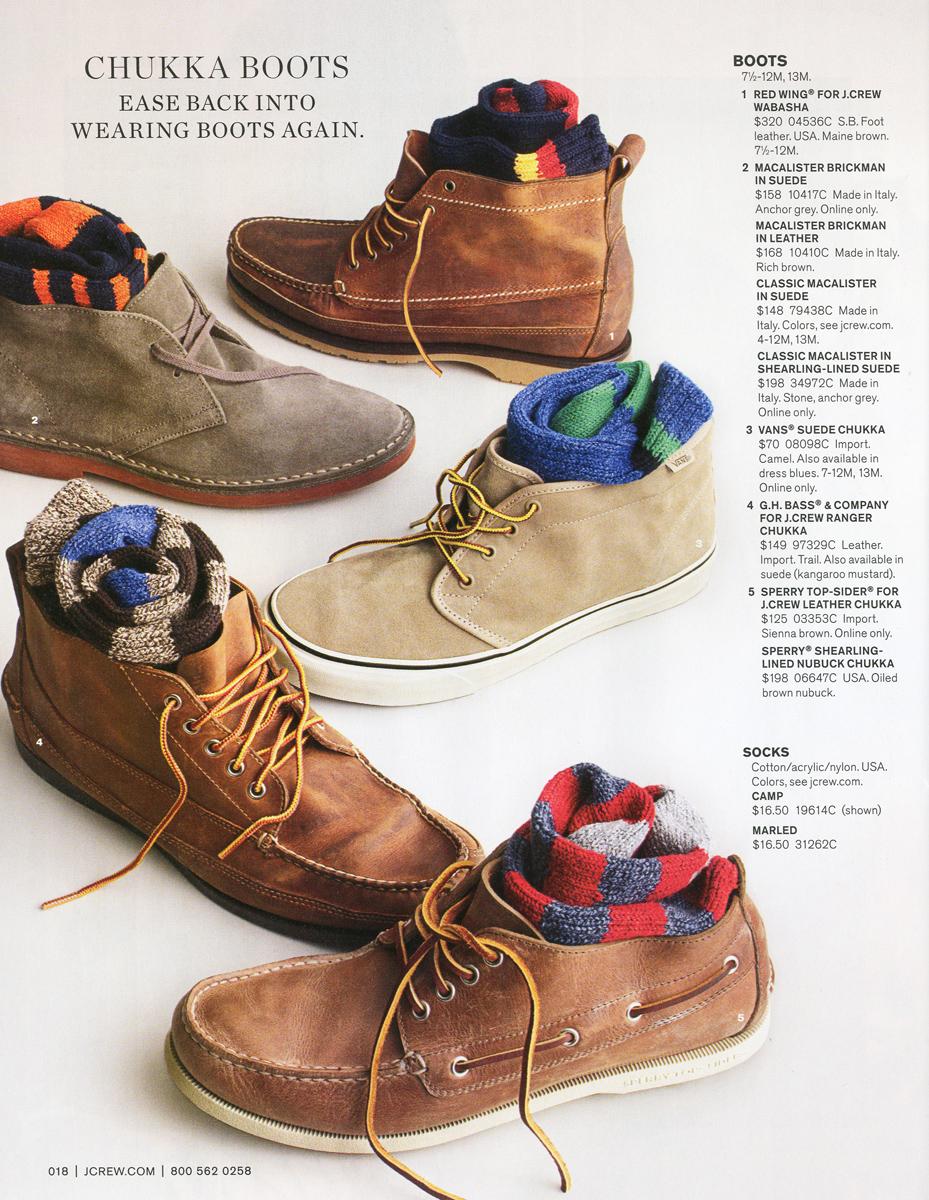 Chukka styles
