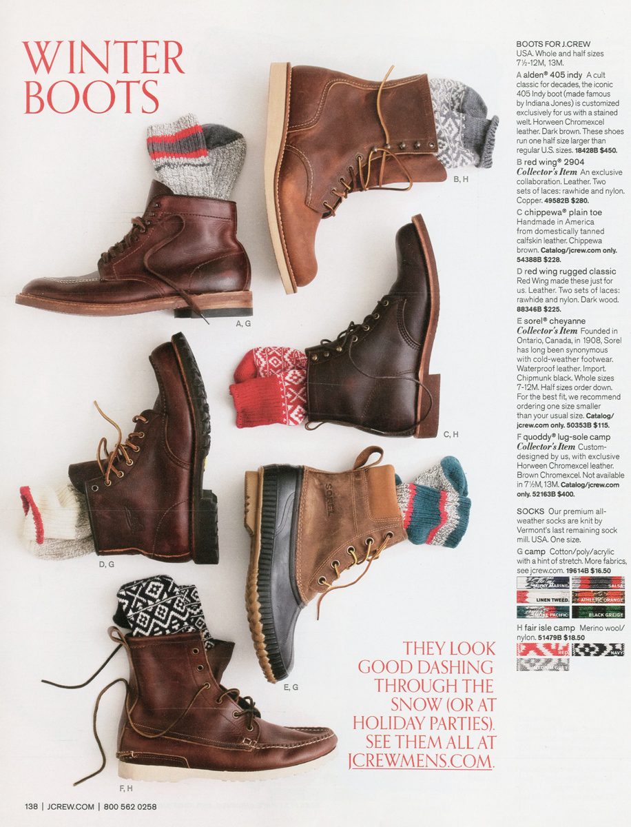 Winter boots from Red Wing, Alden, Sorel