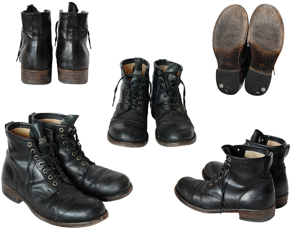 RRL Bowery Boots - SMU - Black Cordovan