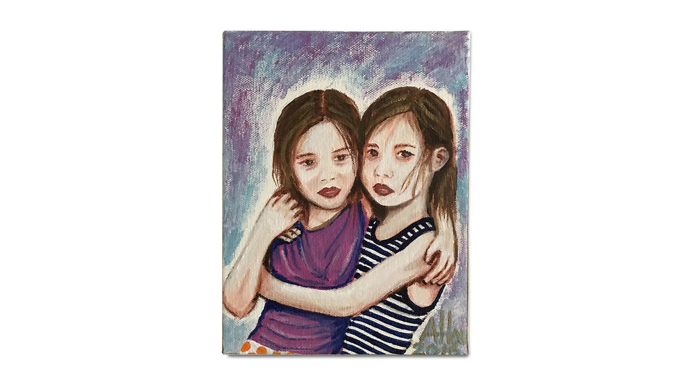 Sisters (2016) -  Acrylic on Canvas
