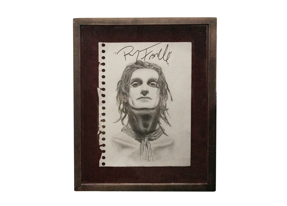 Perry (1991) (signed by Perry Farrell in 2003  at Tower Records NYC) -  Pencil on Paper