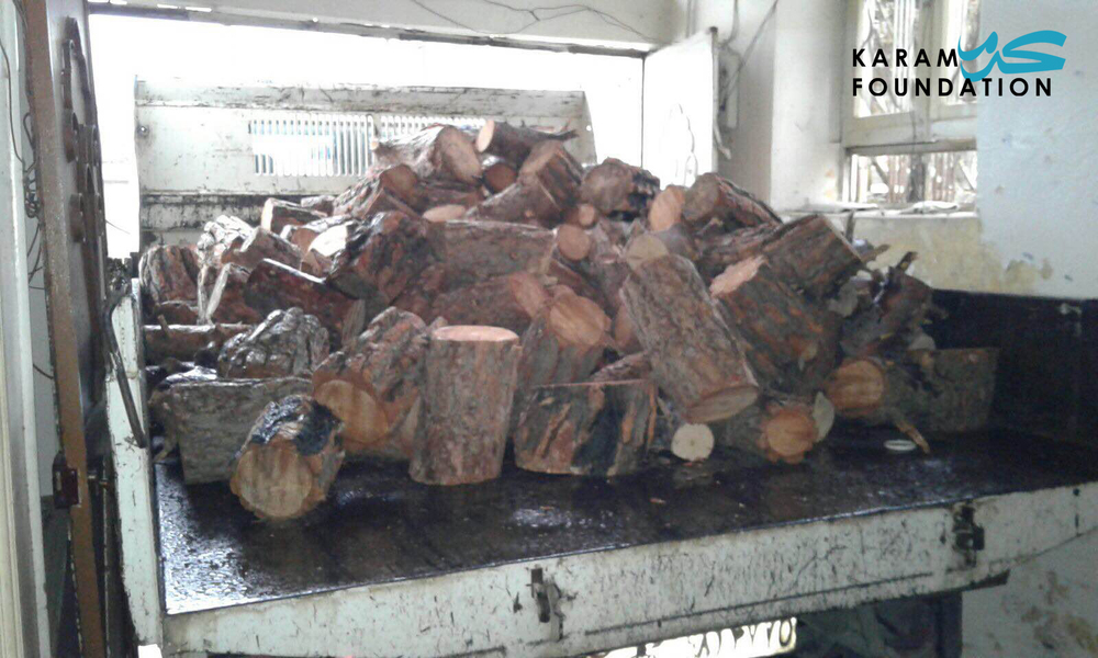 Heating wood distribution in Madaya, January 2016