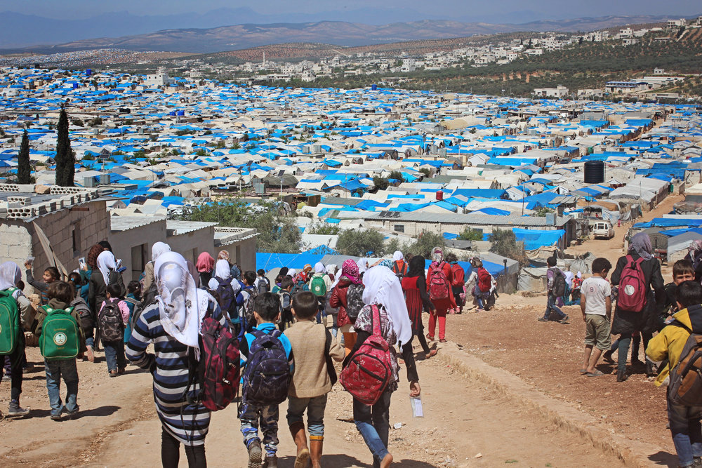 WE CAN'T END THE WAR, BUT WE CAN SHAPE THE FUTURE. - • 5.6 MILLION SYRIANS HAVE FLED THEIR HOMES• 3 MILLION OF THOSE DISPLACED ARE YOUTH• MORE THAN 1 MILLION ARE NOT IN SCHOOL