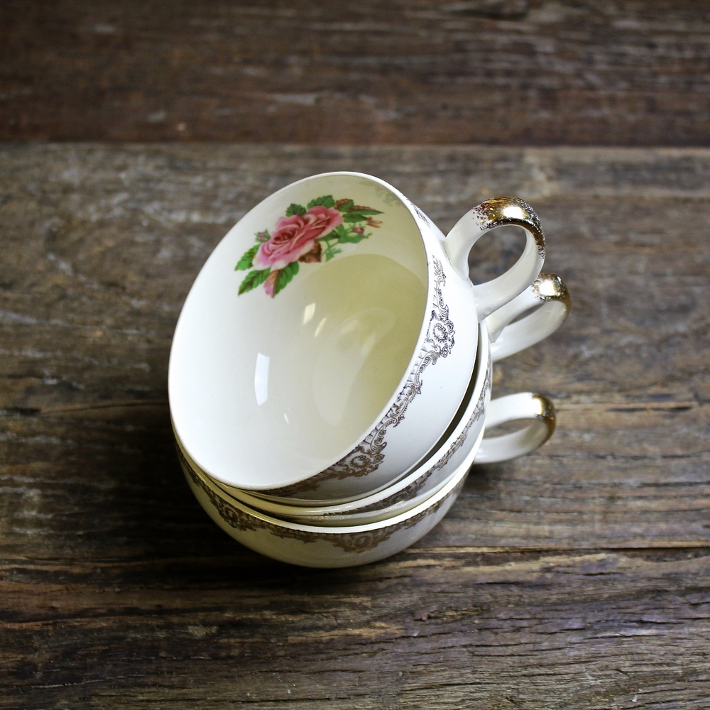 Rose Collection Tea Cups