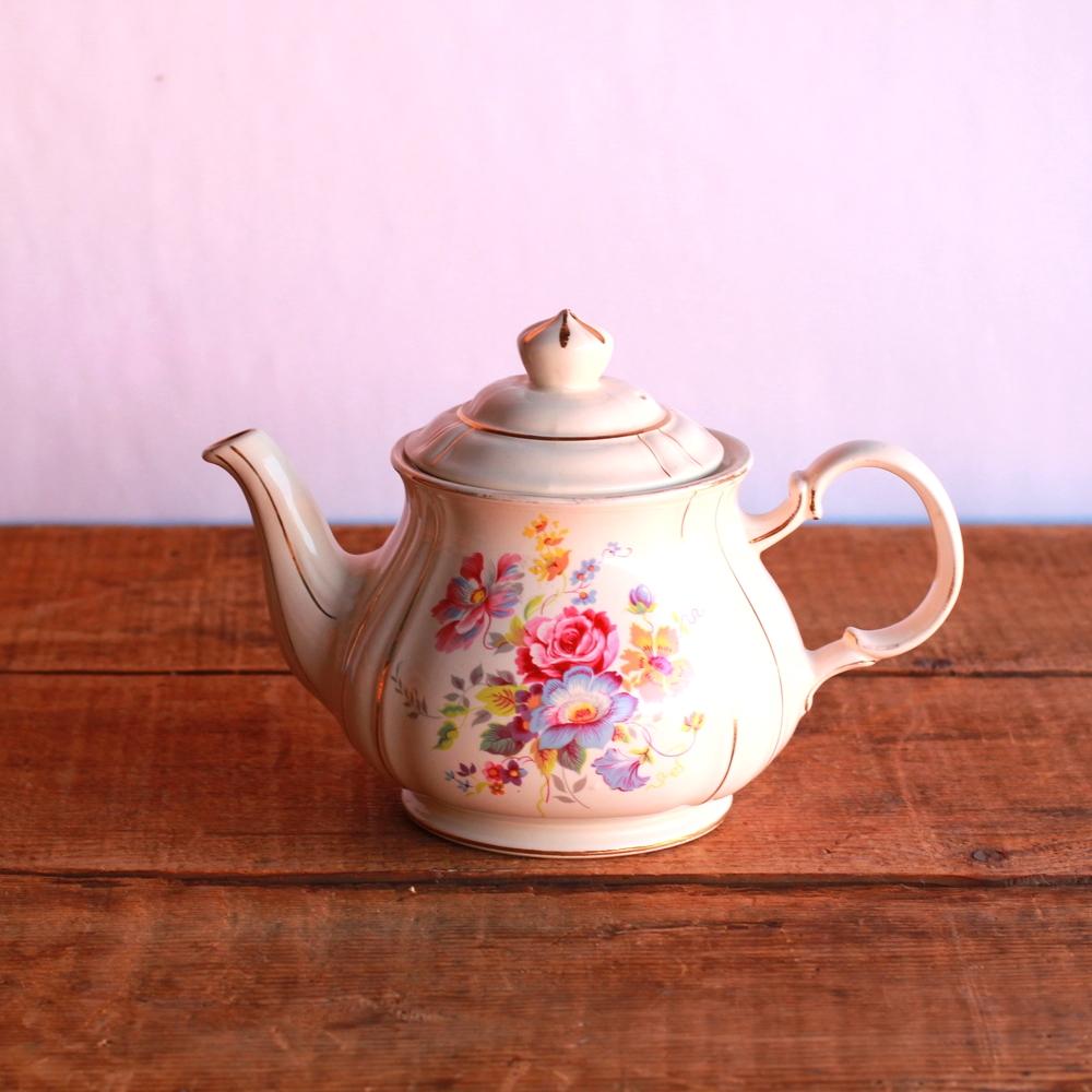 Golden Floral Teapot