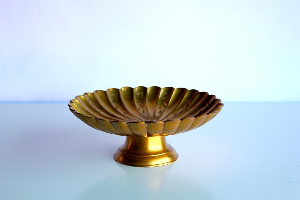Brass Flower Candy Dish