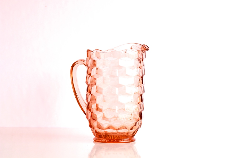 Pink  Depression Glass Pitchers