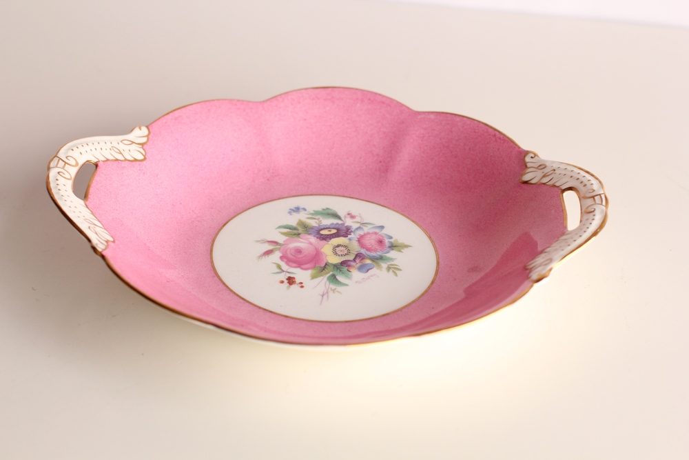 Pink Floral Candy Dish