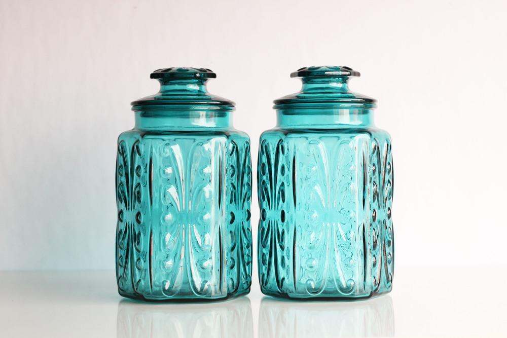 Aqua Candy Jars