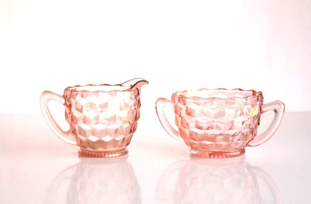 Pink Creamer + Sugar Set