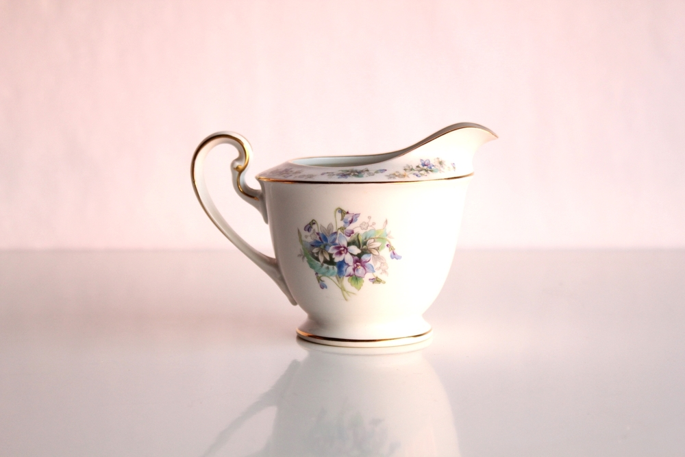 Golden Floral China Collection Creamer