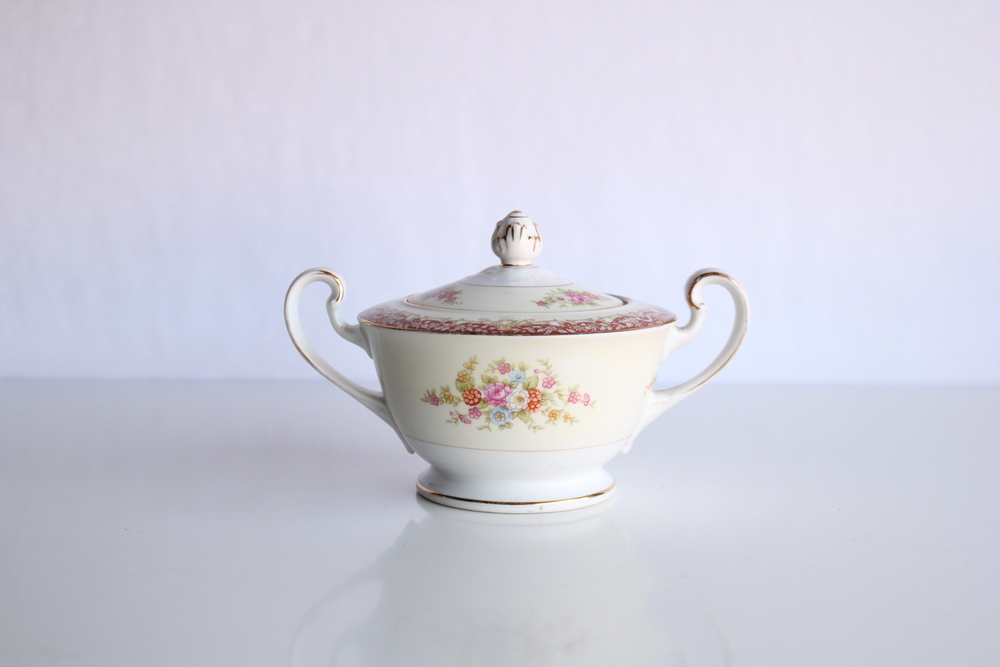 Golden Floral China Collection Sugar Bowl