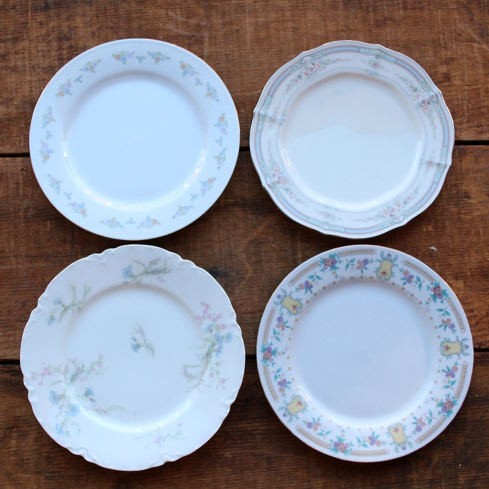 Soft Floral Collection Bread/Dessert Plates