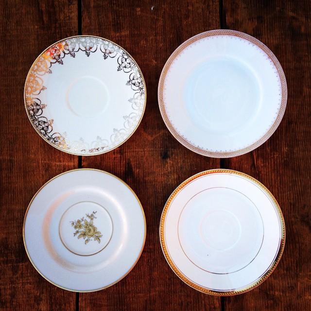 White + Gold Collection Tea Saucers
