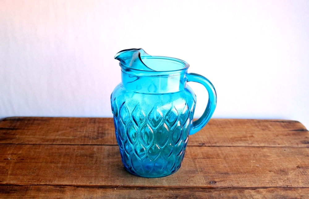 Bright Blue Pitcher