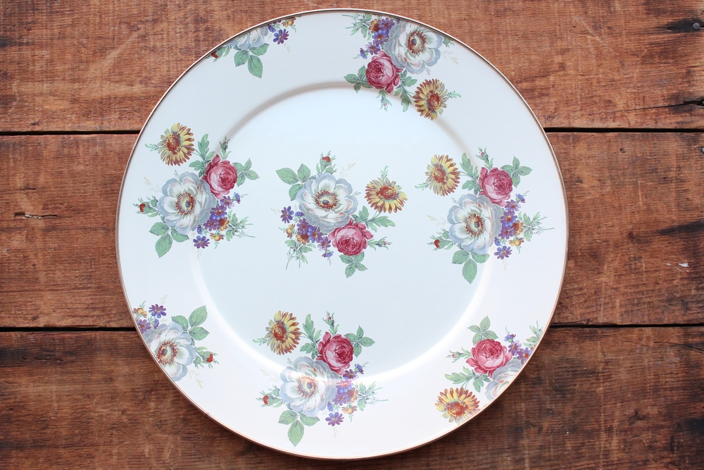 Round Floral Tray