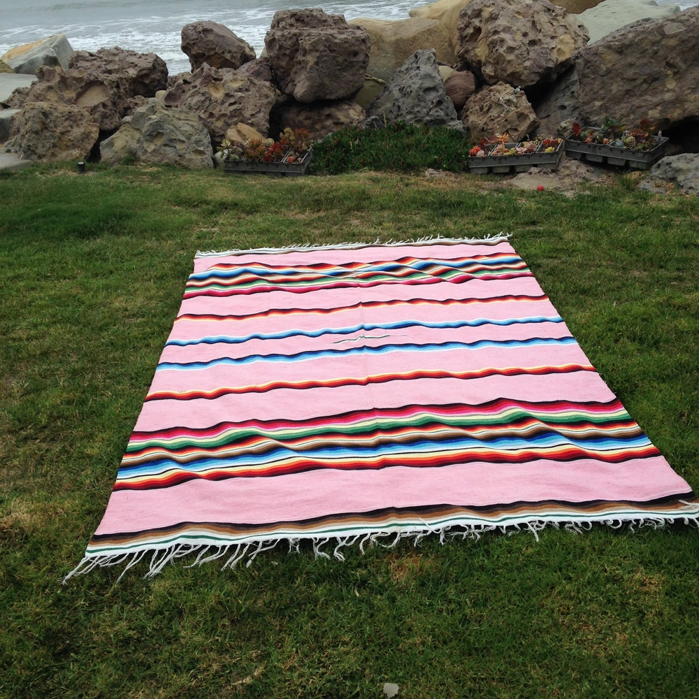 Pink Mexican Blanket