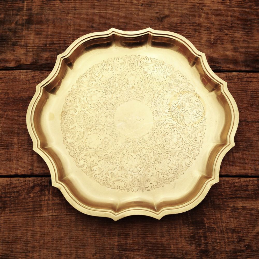 Round Gold Tray