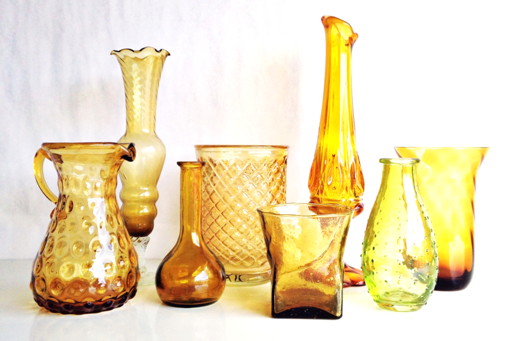 Yellow Glass Vessels
