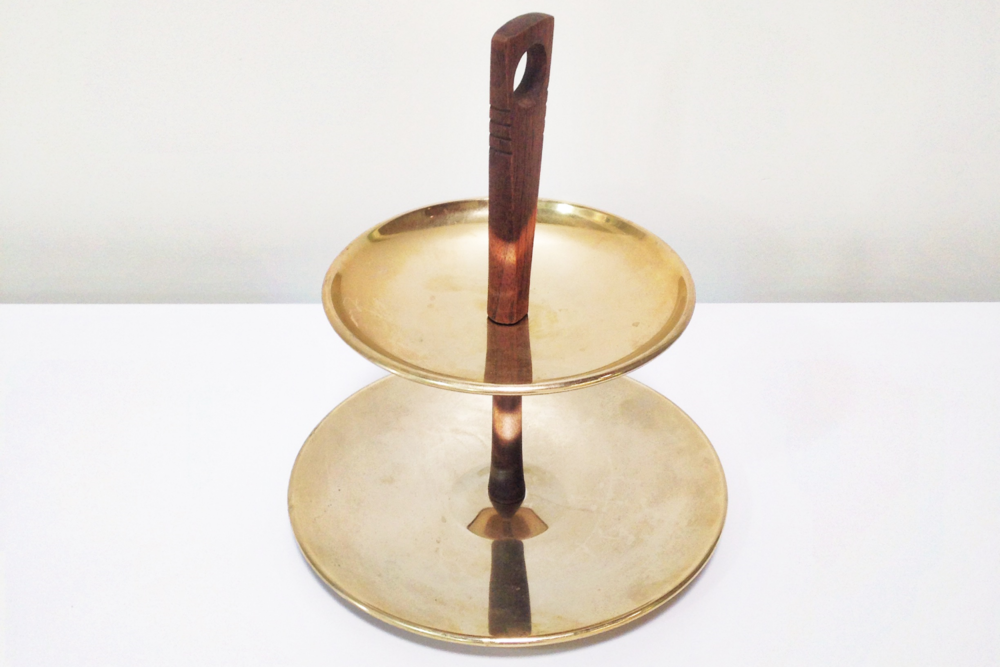 Small Brass Tiered Tray