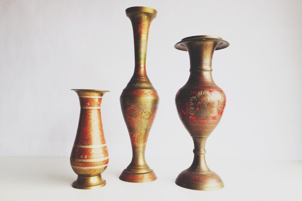 Colorful Brass Vases
