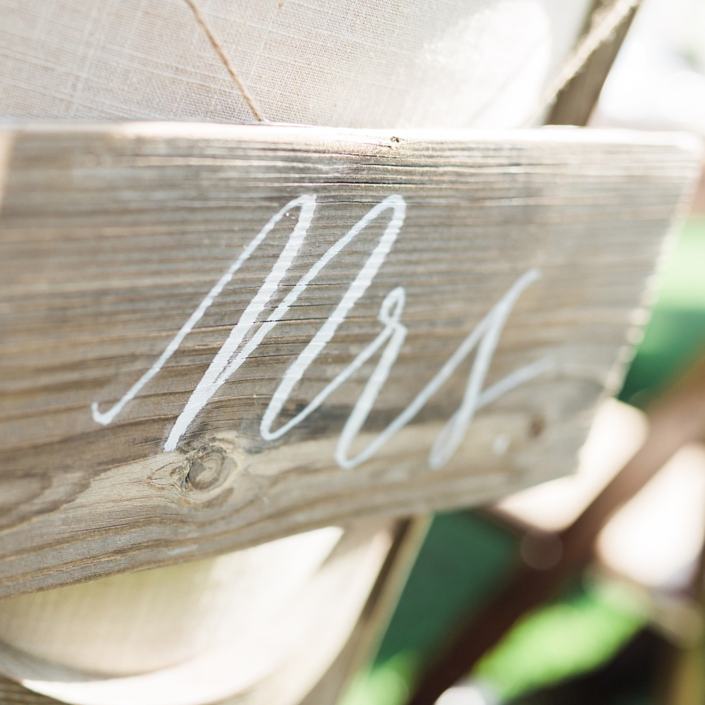 Hanging Mrs Sign ($10)