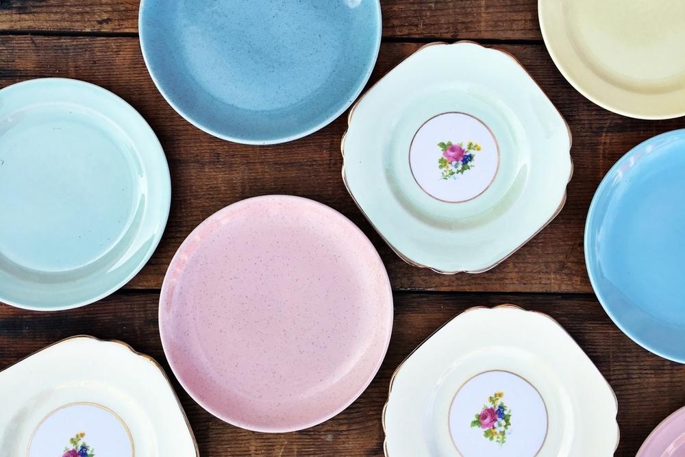 Pastel Dessert Plates