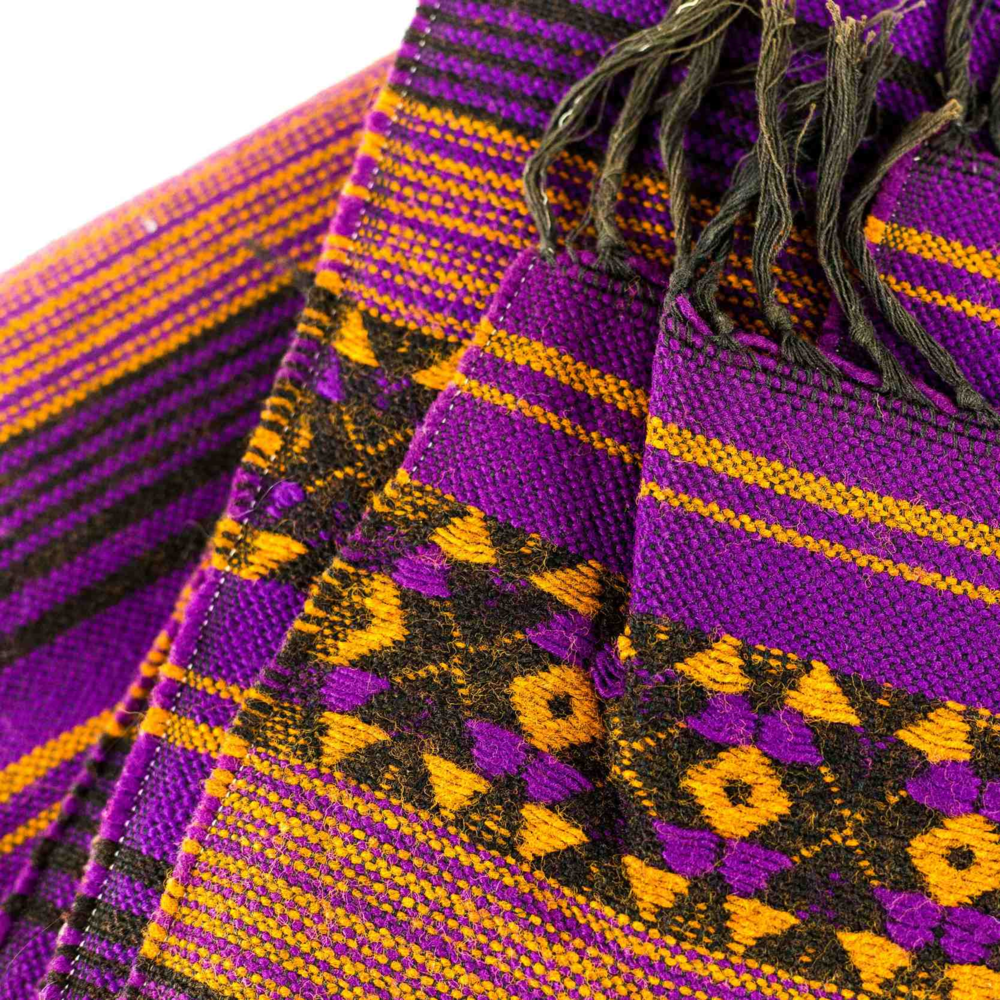 Purple and gold blanket