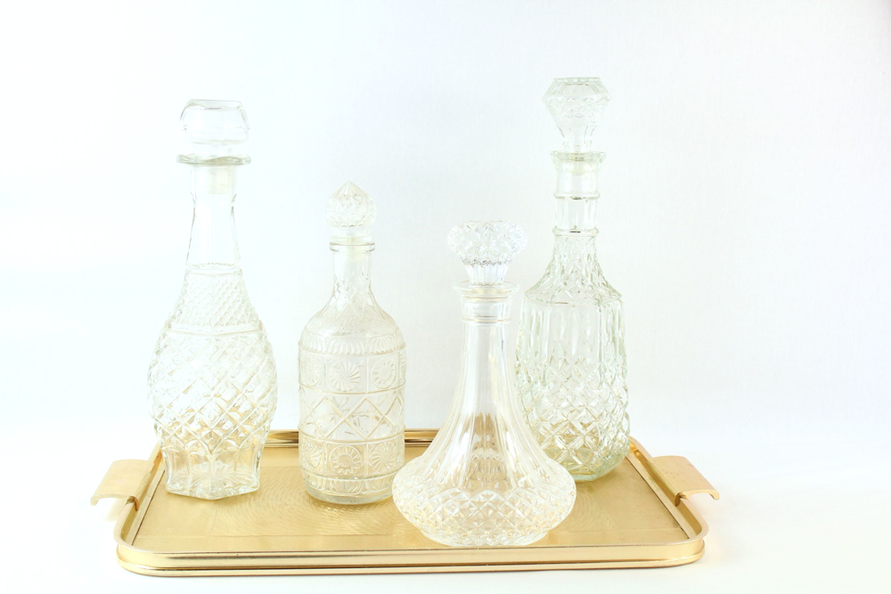 Clear Glass Decanters