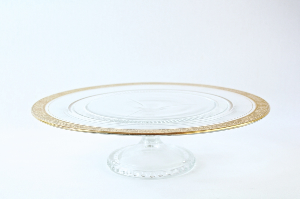 Gold Rimmed Cake Stand