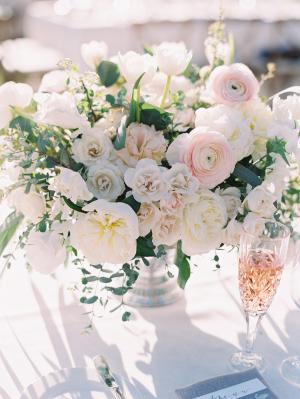 Chic Ojai All White Wedding