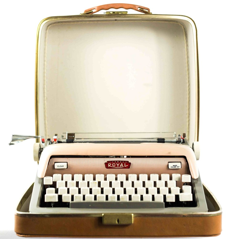 Light Tan Vintage Typewriter