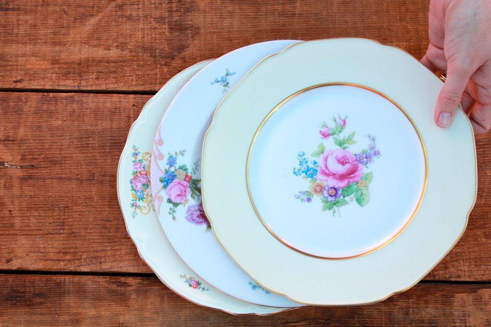 GOLDEN FLORAL COLLECTION & Vintage China + Stoneware u2014 Otis + Pearl Vintage Rentals