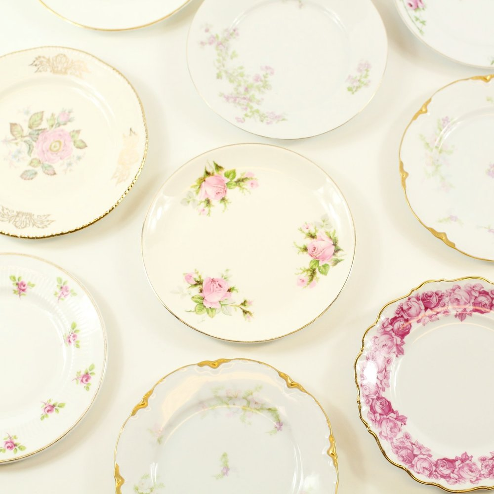 Rose Collection Bread/Dessert Plates