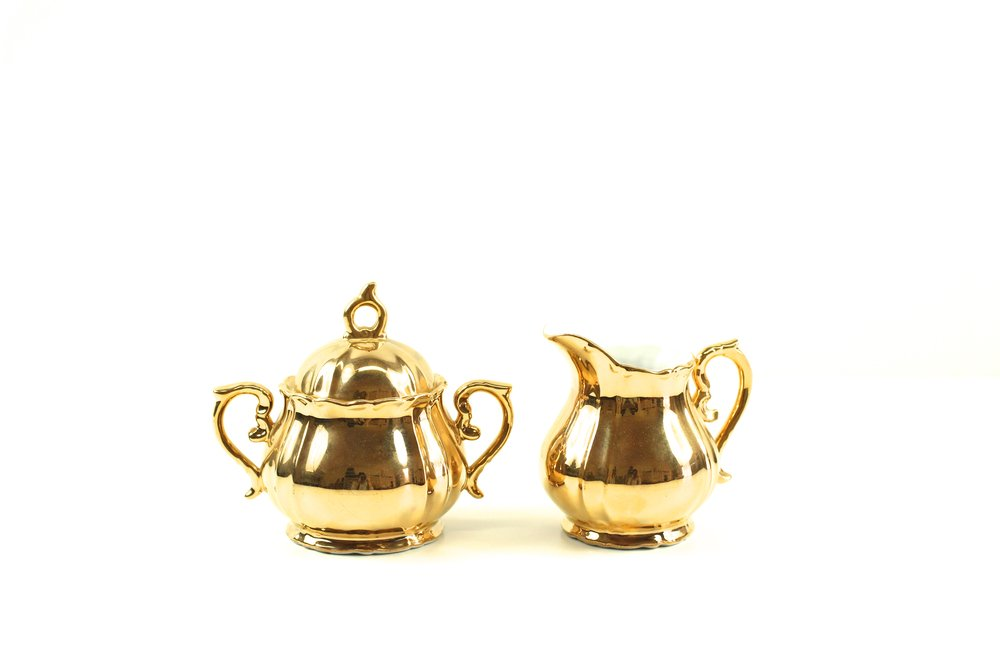 Golden Creamer + Sugar Set