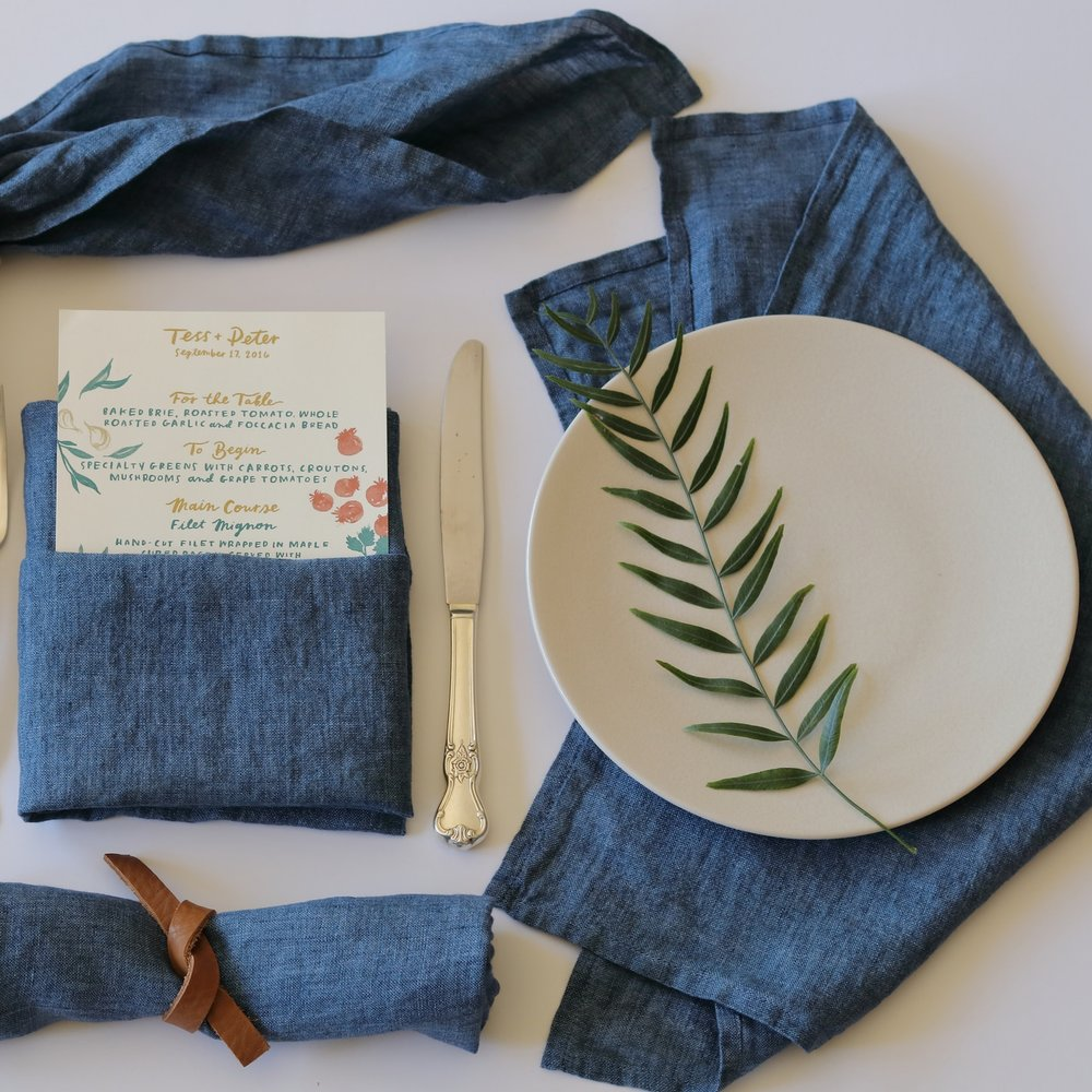 Blue Denim Napkins