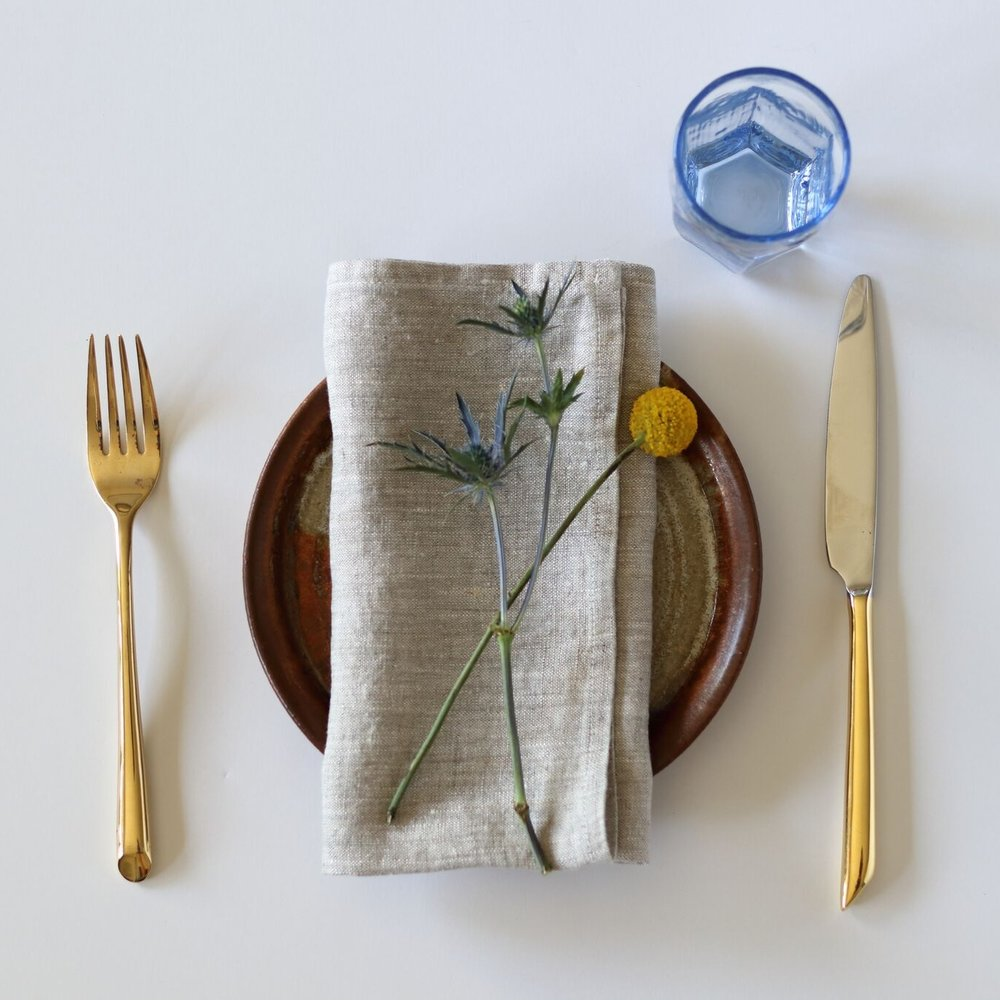 Heather Gray Linen Napkin
