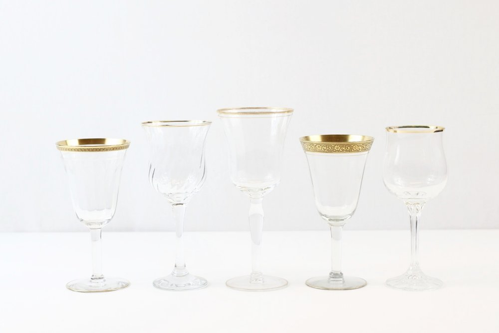 Gold Rimmed Goblets