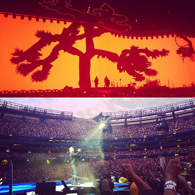 In the @red zone for @u2: The Joshua Tree Tour 2017 #U2 #thejoshuatreetour2017 #redzone #rogerscentre #skydome #Toronto #concert
