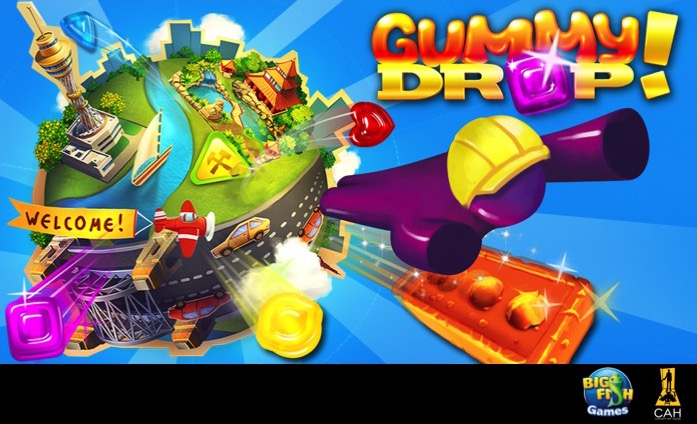 Big fish 39 s gummy drop is now available on pc concept for Gummy drop big fish games