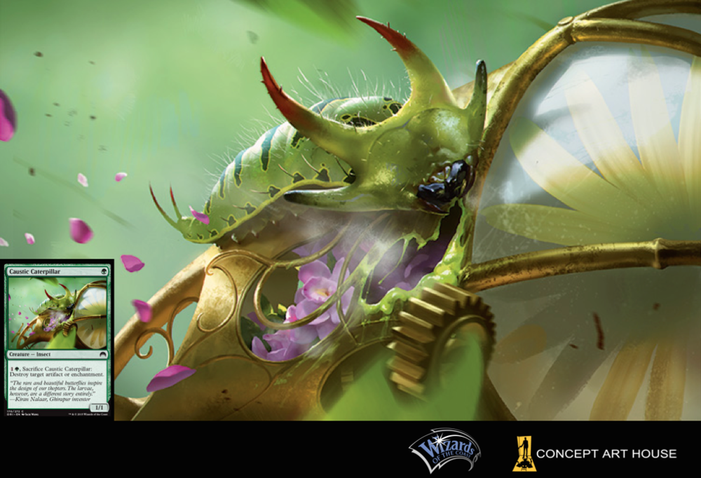 Caustic Caterpillar, Magic: the Gathering card game art