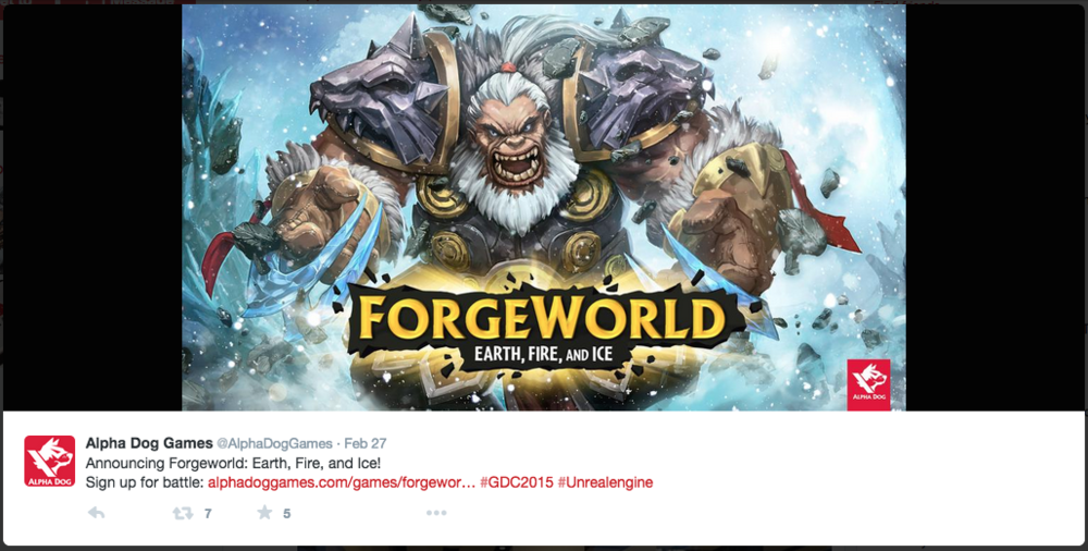 Alpha Dog's Forgeworld announcement on Twitter.