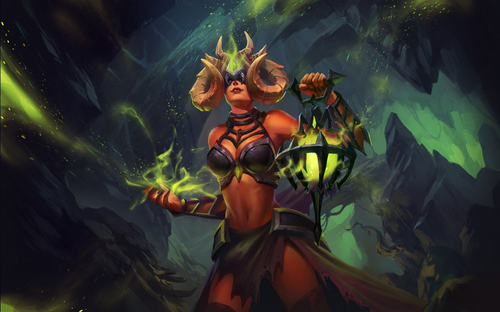 Concept Art House's Demonic Seris illustration, all image rights retained by Hi-Rez Studios